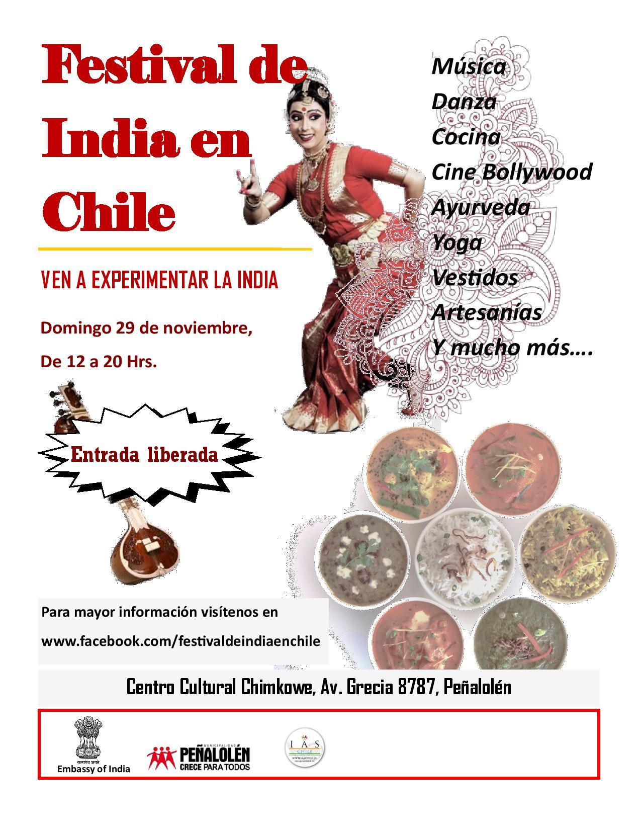 Festival de India en Chile-Dgo. 29 Noviembre 2015